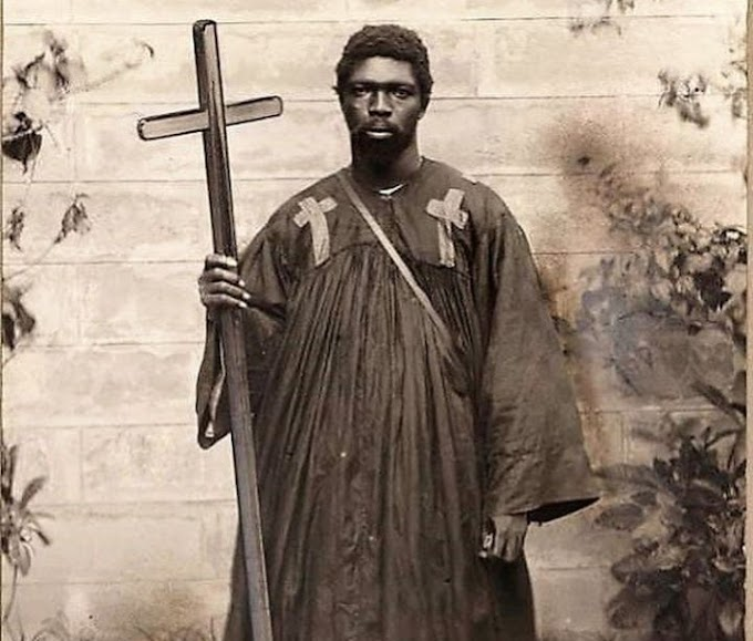 Meet Kwame Sampson Oppong, the first Ghanaian preacher who read the Bible from mystical stone