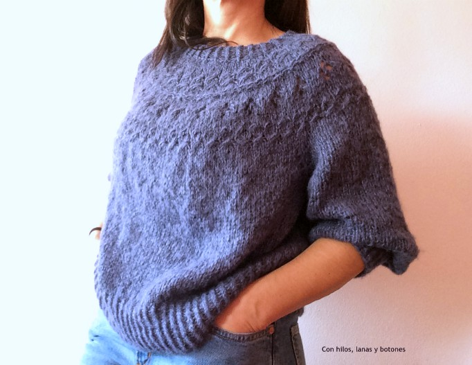 Con hilos, lanas y botones: Ranunculus Sweater (patrón Knit Cafe Midor)