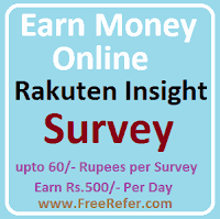 rakuten insight survey earn money online
