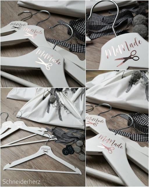 Plotter Motive auf Kleiderbügel DIY