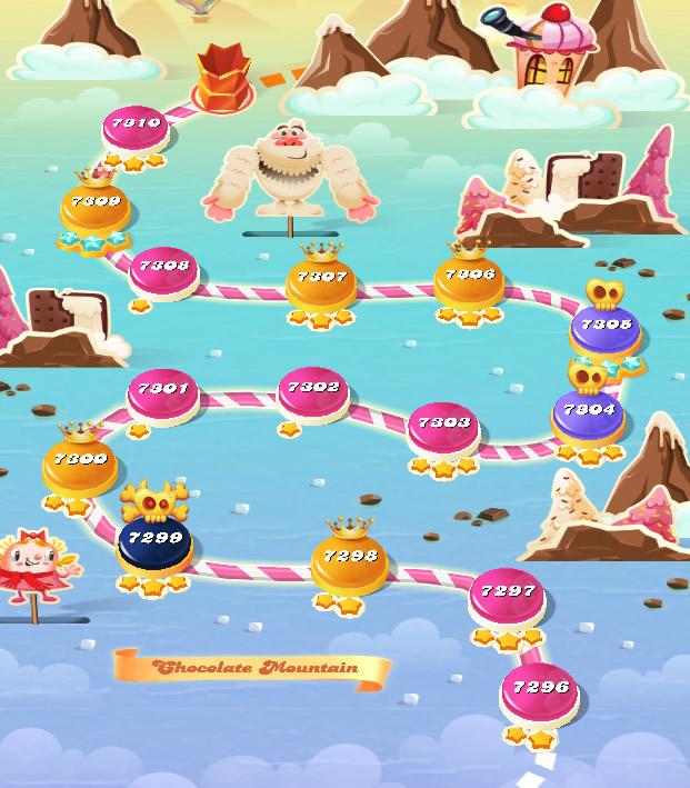 Candy Crush Saga level 7296-7310