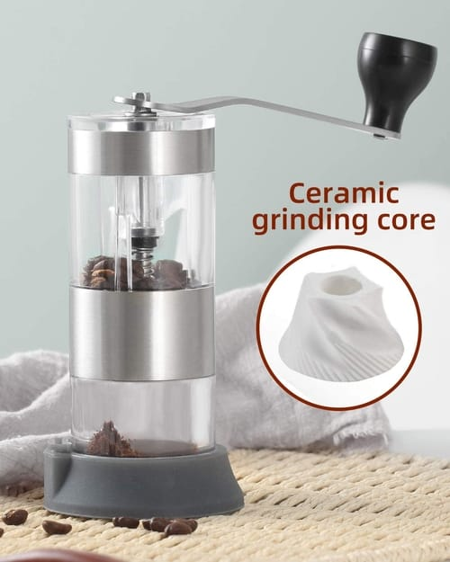 VEHHE Manual Portable Hand Coffee Grinder