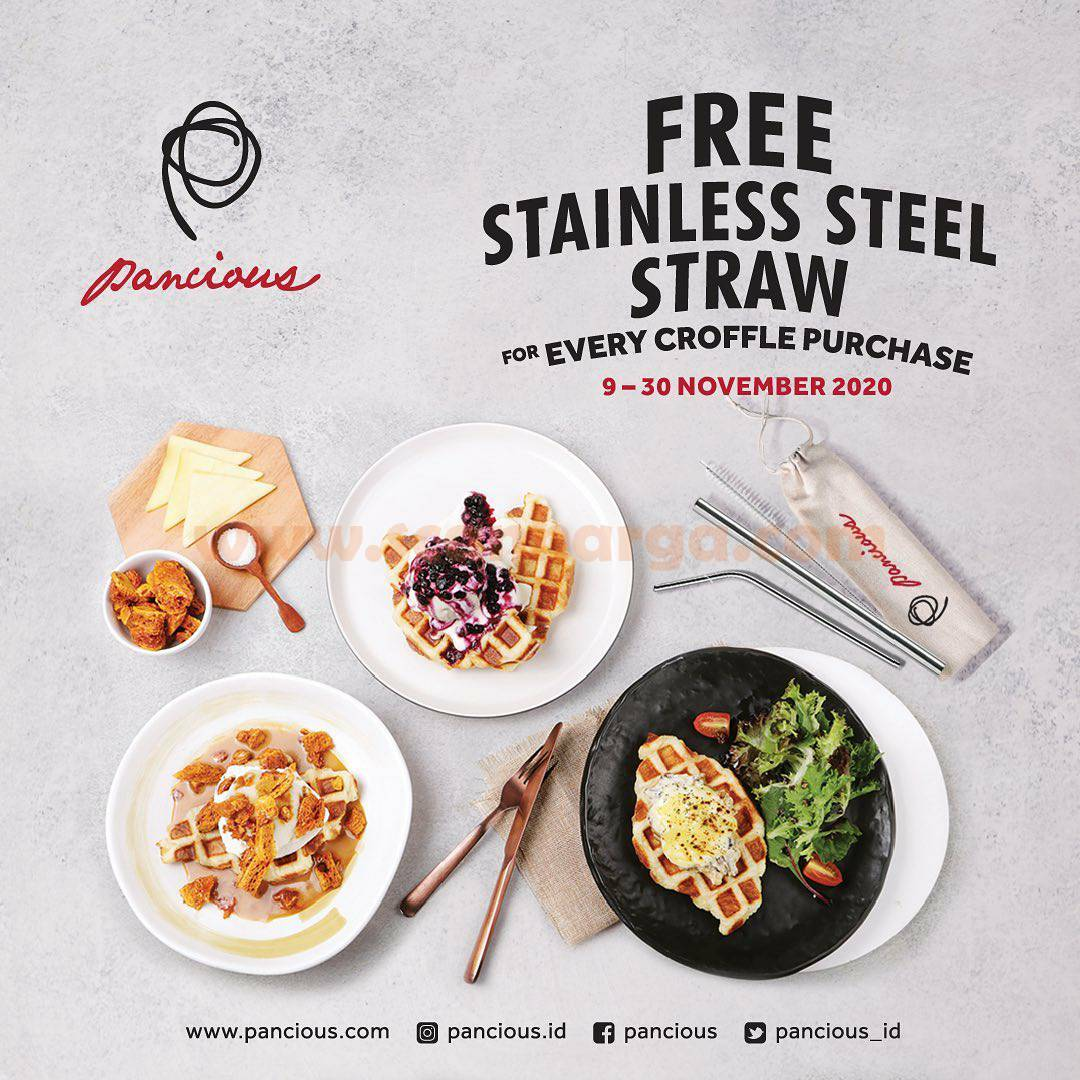 Promo Pancious Free Stainless Steel Straw For Every Croffle Purchase!