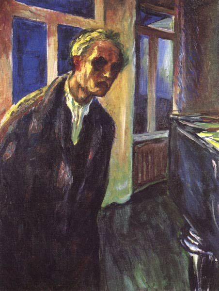 Эдвард Мунк - Автопортрет. Ночной странник. 1924