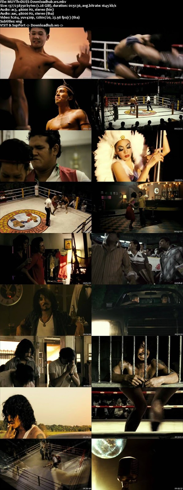 Muay Thai Chaiya 2007 Hindi Dual Audio 720p BluRay Free Download