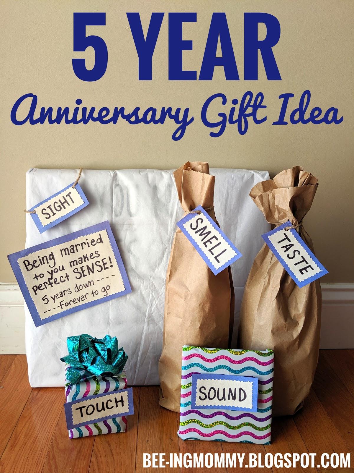 5 Year Wedding Anniversary Gift Idea 5 Senses Meets Wood