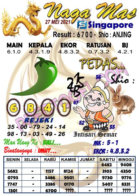 Syair Nagamas SGP kamis 27 mei 2021
