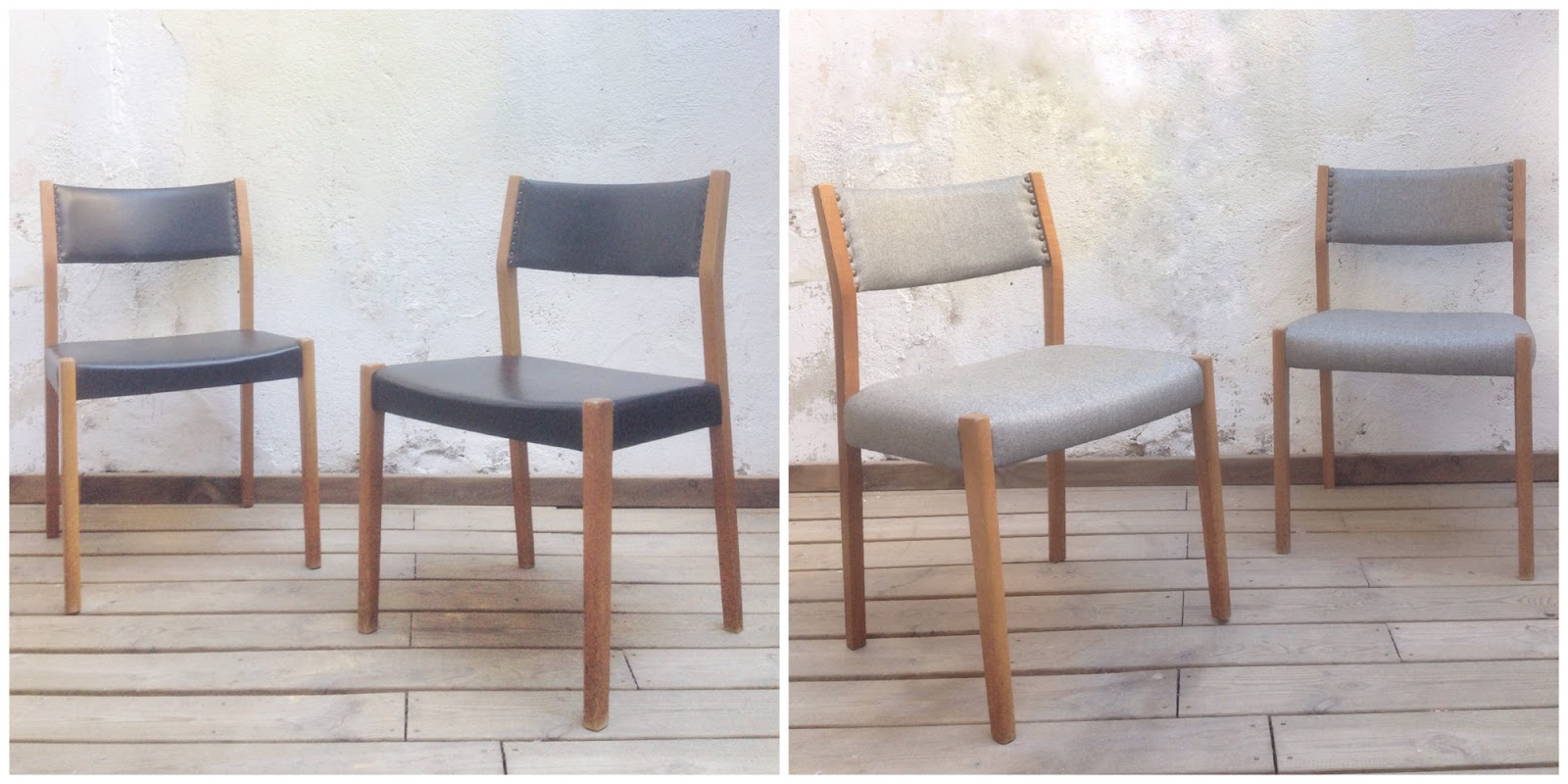 Antes y después - sillas retapizadas