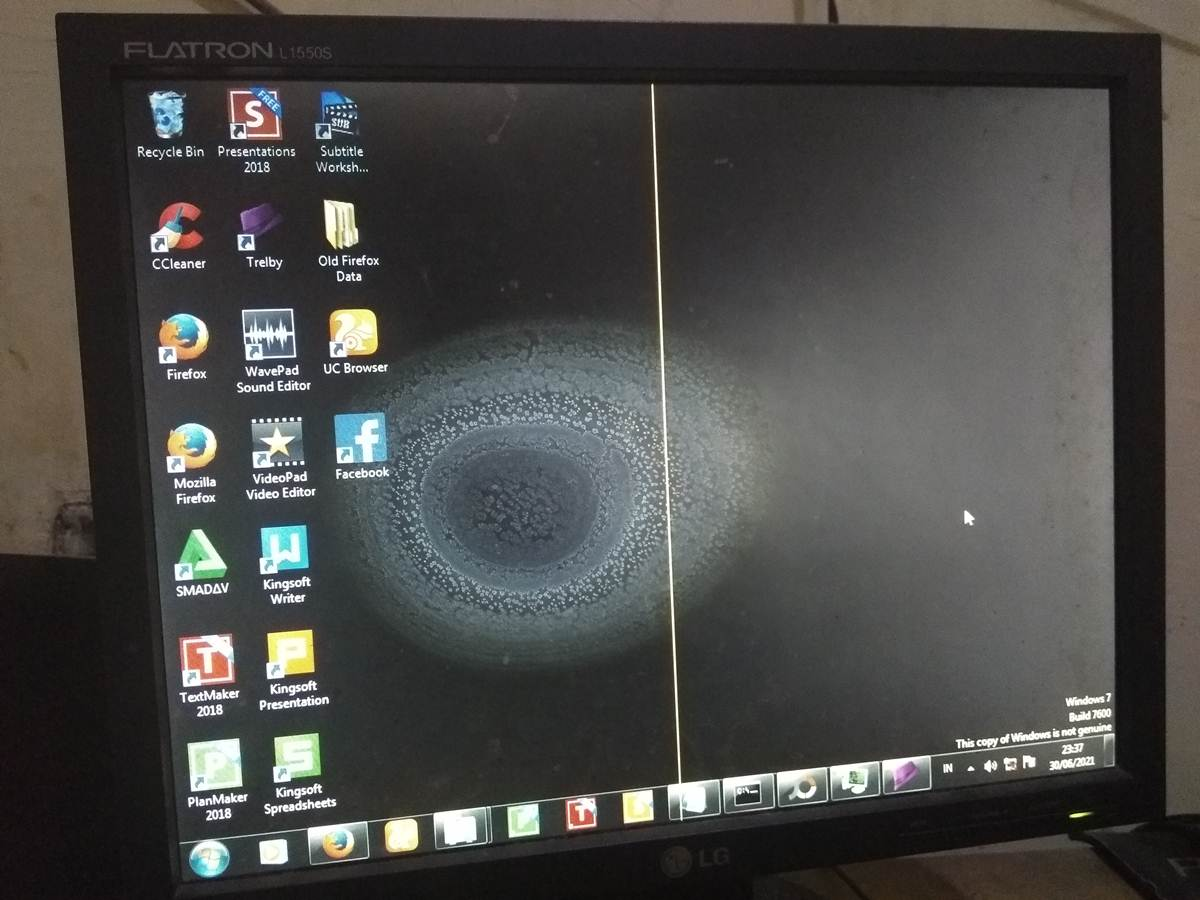 tampilan monitor komputer PC kerja