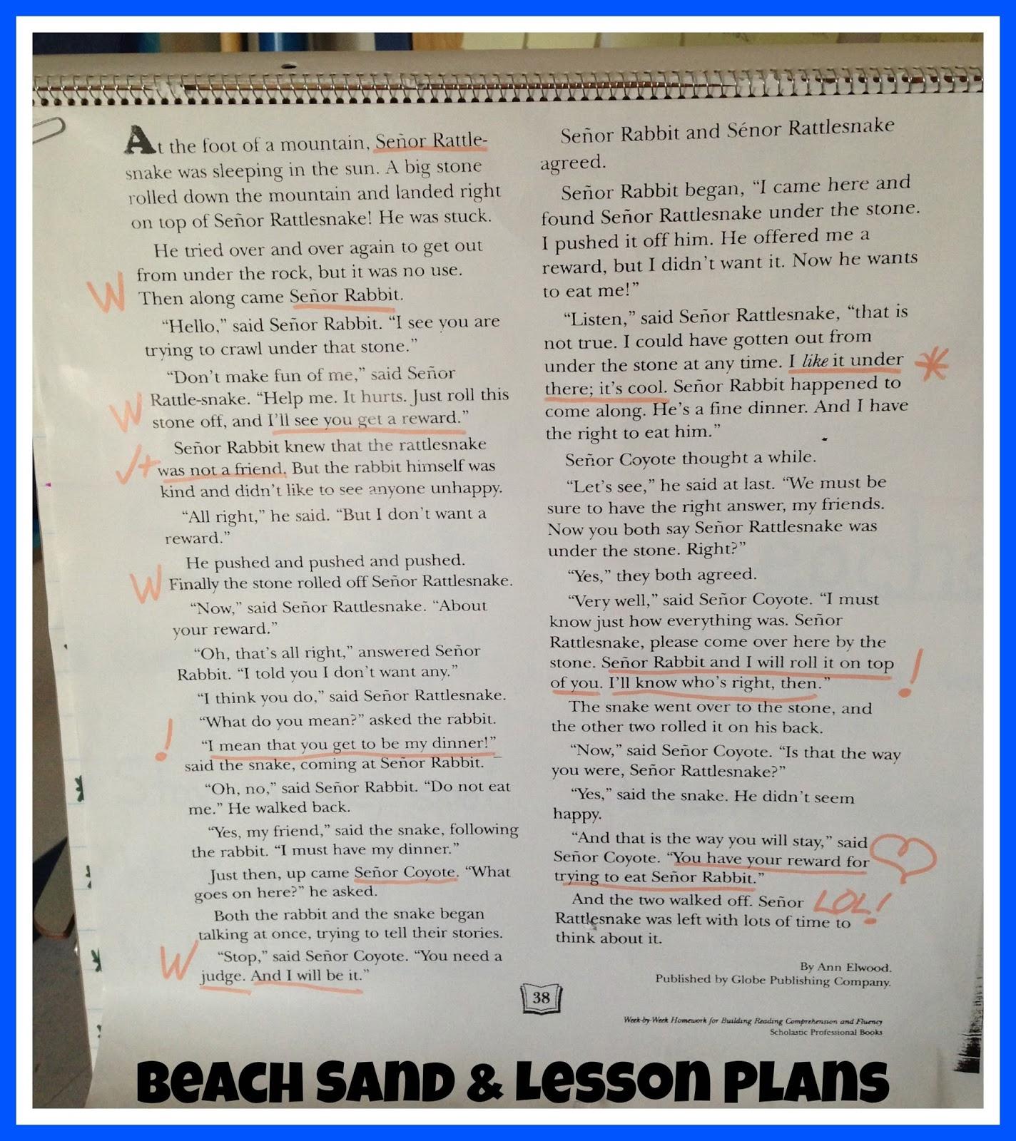 Readworks Main Idea Passages 3rd Grade