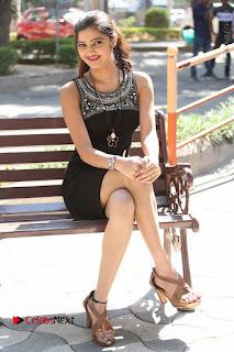 Actress Poojitha Pallavi Naidu Stills in Black Short Dress at Inkenti Nuvve Cheppu Movie Platinum Disc Function  0230.JPG