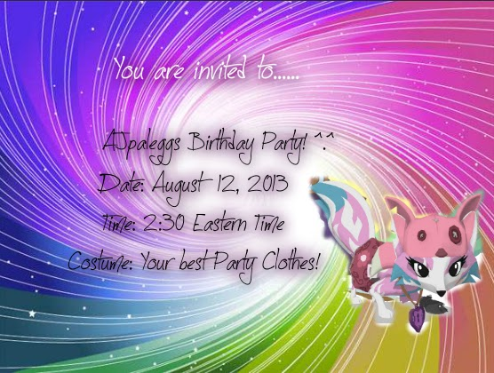 Animal Jam Splatter You Are Invited To
