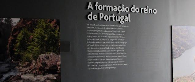 Painel explicativo sobre a formação do território de Portugal