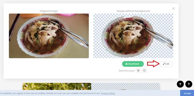situs remove background foto online remove bg - background biru dan background merah