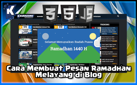 Cara Membuat Popup Pesan Ramadhan Melayang di Blog