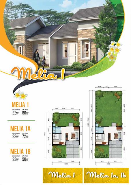 Model dan Denah Rumah MELIA 1, 1A, 1B Citra Indah City