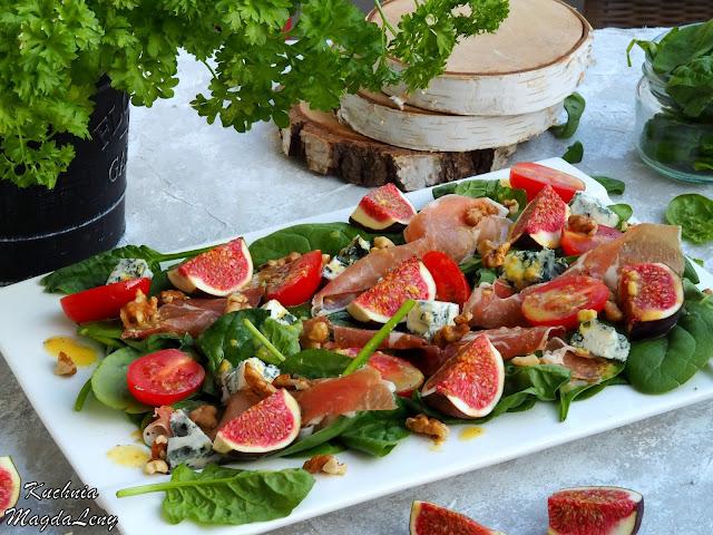 Sałatka z figami i szynką parmeńską
