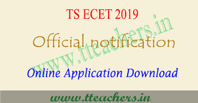 TS ECET 2019 notification , eligibility, online apply, exam date