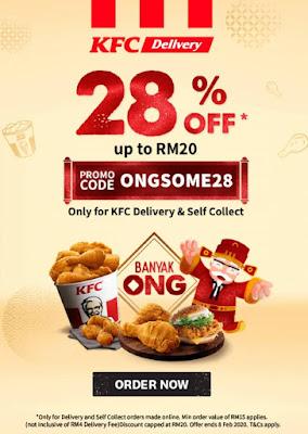 Redeem Voucher KFC Dengan KFC Delivery & Self Collect