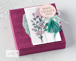 Stampin' Up Touches of Texture Gift Box