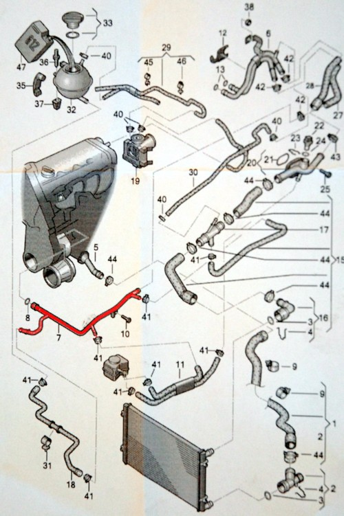 The Cooling System Of Vw Polo Classic Metal Pipe Is Coloured Red: Vw Polo 2002 Engine Diagram At Gundyle.co