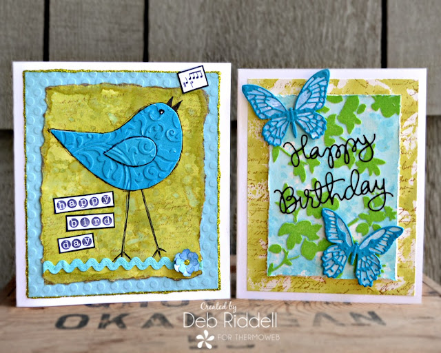 Deco Foil Flock Birthday Cards Two Ways