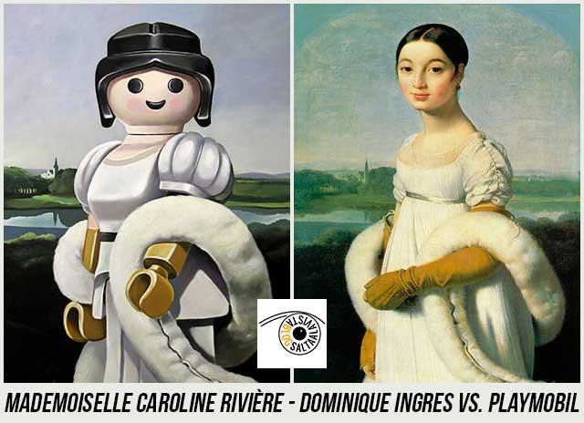 Cuadro-Mademoiselle-Caroline-Rivière-de-Dominique-Ingres-Hecho-con-Playmobil