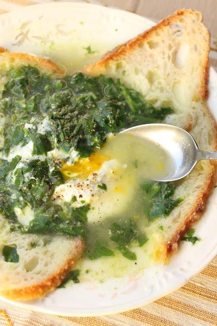soupe epinards oeuf poche portugaise