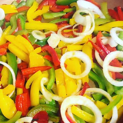 Pimientos-tricolor