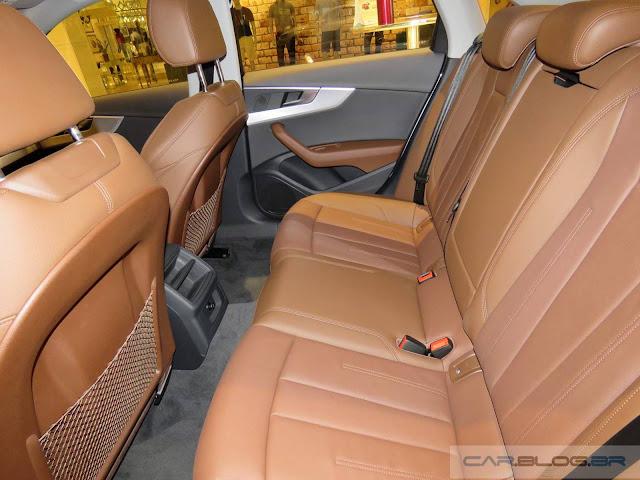 Novo Audi A4 2017 - espaço traseiro