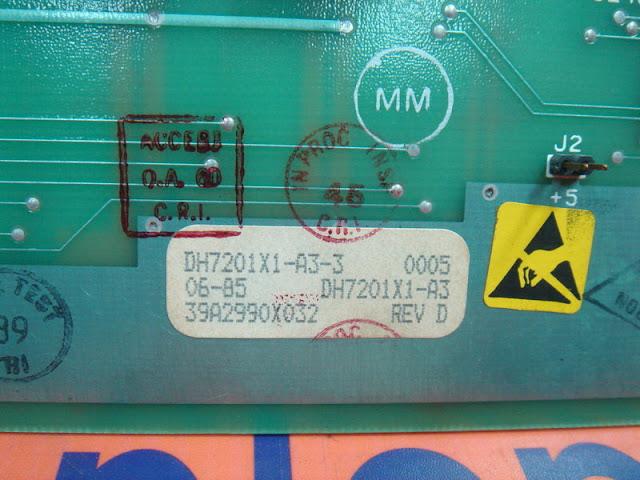 FISHER ROSEMOUNT DH7201X1-A3-3 / 39A2990X032 COMMON RAM CARD REV.D