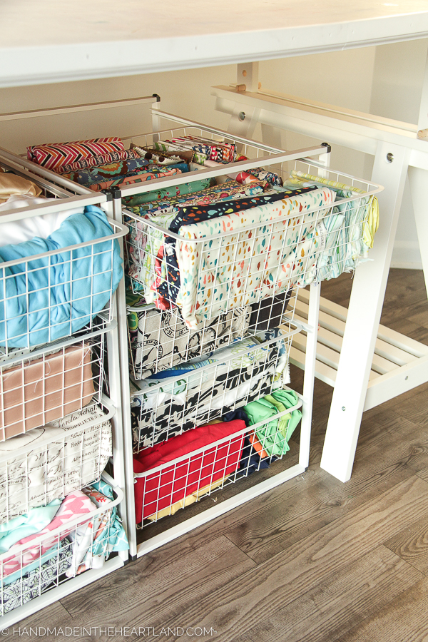 How to organize fabric in craft room