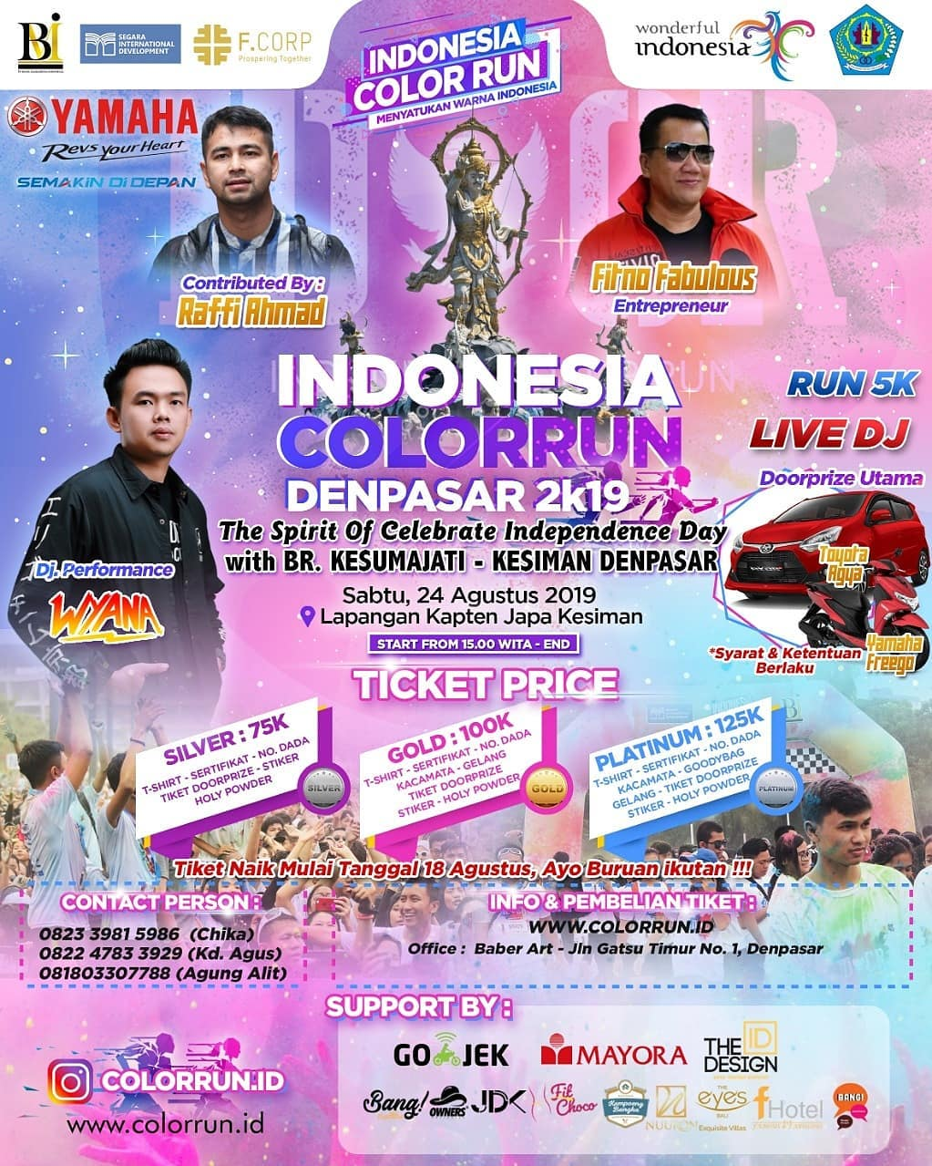 Indonesia Color Run - Denpasar • 2019