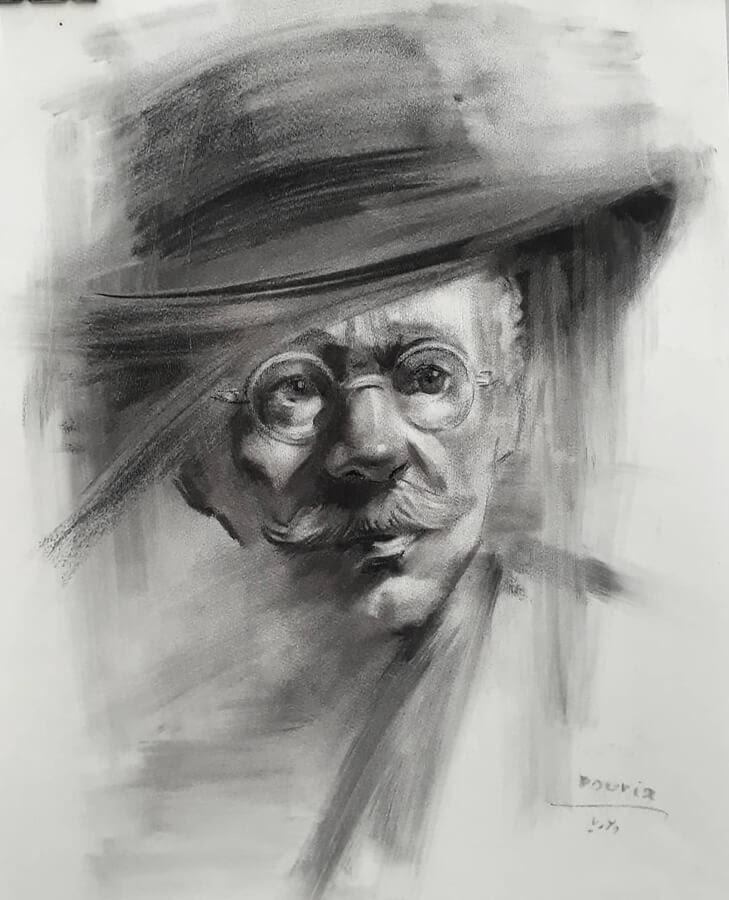 01-Portrait Drawings Pourianahaei-www-designstack-co