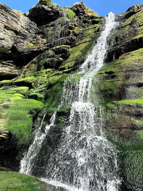 Waterfall Tintagel beach cove