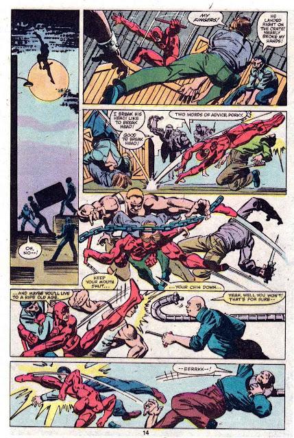 Daredevil v1 #165 marvel comic book page art by Frank Miller