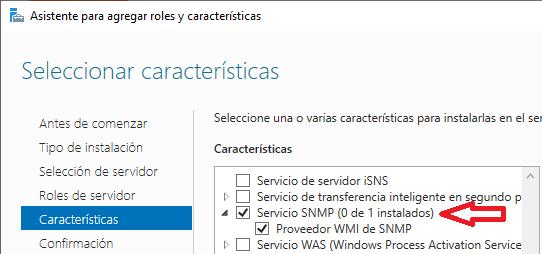 Windows: SNMP falta pestaña seguridad