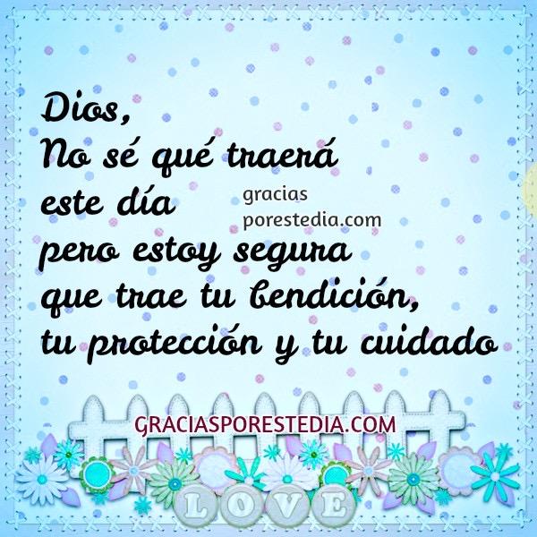 imagen oracion gracias a Dios proteccion