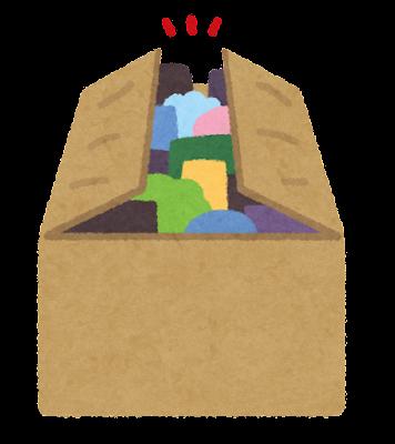 フタの閉じた箱のイラスト