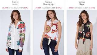 camisas para mujer de Desigual