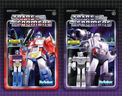 Target Exclusive Transformers G1 Cyberchrome Variant Optimus Prime & Megatron ReAction Figures by Super7