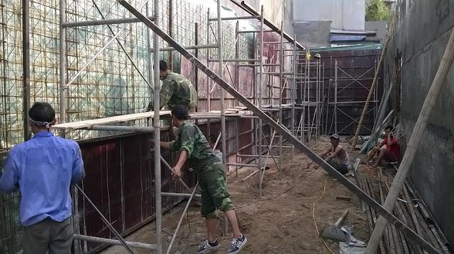 Lắp dựng cốt thép + Coffa tường