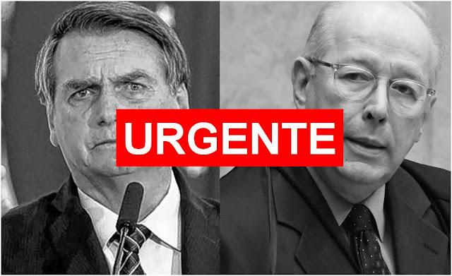 """Celso de Mello pode ser preso por """"abuso de autoridade"""", sugere Jair Bolsonaro"""
