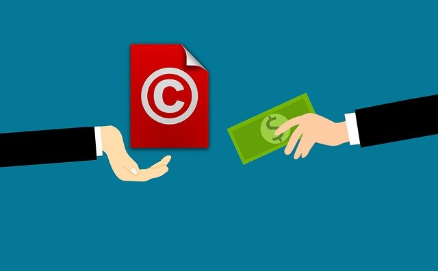 Copyright license - It is where someone pays you to use the copyrighted work. It is the equivalent of hiring your copyright for someone's own use