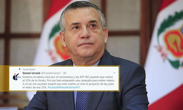 Podemo Perú, Daniel Urresti - NO AFP