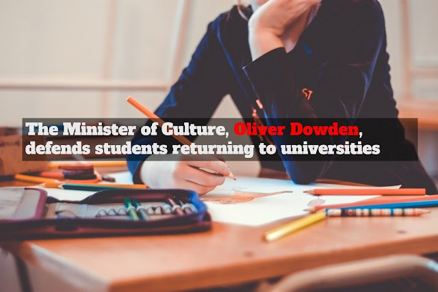 The Minister of Culture, Oliver Dowden, defends students returning to universities