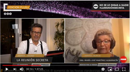 video Reunión Secreta y Médicos por la Verdad