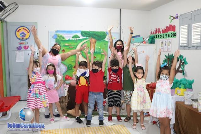 Educandário Êxito realiza programação especial de despedida para dar início ao recesso escolar em Caraúbas