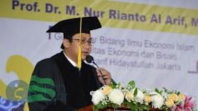 Kader Muhammadiyah Dikukuhkan Sebagai Profesor Bidang Ekonomi Islam UIN Syarif Hidayatullah