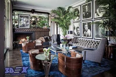 art deco style, art deco interior design, art deco living room decor with painting